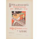 """Les Affiches Etrangeres """"Bock"""" Stone Lithograph by Berchmans - 1896"""