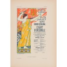 """Les Affiches Etrangeres """"Chant"""" Stone Lithograph by Donnay - 1896"""