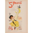 """Les Affiches Etrangeres """"St Pauls"""" Stone Lithograph by Dudley Hardy - 1896"""