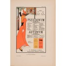 "Les Affiches Etrangeres ""Pseudonym"" Stone Lithograph by Aubrey Beardsley - 1897-99"