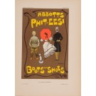 """Les Affiches Etrangeres """"Boots & Shoes"""" Stone Lithograph by Dudley Hardy - 1897-99"""