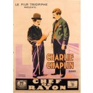 "Charlie Chaplin Movie Original Poster ""Chef de Rayon"" Extremely Rare 1916"