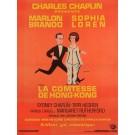 "Original  Charlie Chaplin Movie Poster ""La Comtesse De Hong Kong"" 1967"