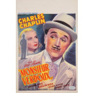 "Original Charlie Chaplin Movie Poster ""Monsieur Verdoux"" 1947"