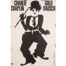 "Original Vintage German Charlie Chaplin Movie Poster ""Gold Rausch (Gold Rush)"""