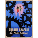 "Original Vintage French Movie Chaplin Poster ""Les Temps Modernes"" Modern Times 1936"