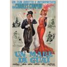 Original Charlie Chaplin Italian Poster Un Mare Di Guai. (Charlot joue Carmen)