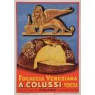 Original Italian Poster to advertise Focaccia Veneziana