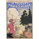 "Original Vintage French Poster ""Le Touquet - Paris-Plage"" by Grun 1925"