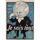 "Original Vintage French Poster ""Je Sais Tout"" by Grun. 1905"