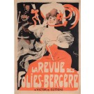 "Original Vintage French Poster ""Le Revue des Folies-Berge're"" by Grun. 1901"
