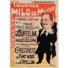"Original Vintage French Poster ""Tournee Milo de Meyer"" by Grun 1897/1898"