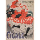 "Original Vintage French Poster ""Ya du Linge - After"" by Grun After 1901"
