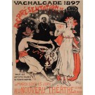 "Original Vintage French Poster ""Vachalcade"" by Grun 1897"