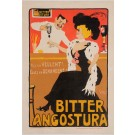"""Original Vintage French Poster """"Bitter Angostura"""" by Grun Before 1910"""