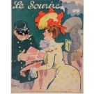 """Original Vintage French Poster for """"Le Sourire"""" Magazine by Grun - July 1902"""