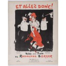 "Original Vintage French ""Et Allez Donc"" Rodolphe Berger Musical Notes by Grun"