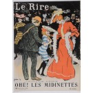 "Original Vintage French Poster for ""Le Rire"" Magazine Cover by Grun 1903"