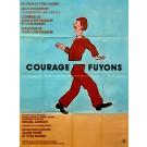 "Original Vintage French Movie Poster ""Courage, Fuyons"" by Savignac 1979"