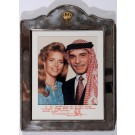 Historic Signed Photograph of King Hussein and Queen Noor of Jordan 1995