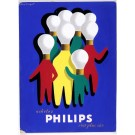 "Original  Advertising Poster Maquette for ""PHILIPS"" Lamps, Original."