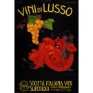 """Original Vintage Cardboard Posters for """"Vini di Lusso"""" by Plinio Codognato"""