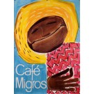 Original Vintage Swiss Poster for Cafe Migros