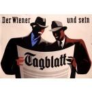 Original Vintage Swiss Poster for Der Wiener Und Sein Tagblatt Gehoren Zusammen 2 sheets