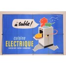 "Original Vintage French Poster for ""Cuisine Electrique"" by J. Jacquelin"