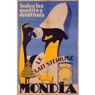 Original Vintage French Poster for Mondia Sterilized Milk
