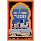 "Original Vintage French Poster for ""Hotel Minza Tangier"""