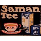 "Original Vintage German Poster for ""Saman Tee"""