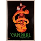 "Original Vintage Italian Poster for ""CAMPARI"" by L. Cappiello 50's 2ND EDITION"