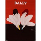 Original Vintage French Advertising Poster for Bally Shoes