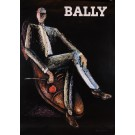 Original Vintage French Poster Advertising Bally Shoes