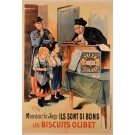 "Vintage French REPRINT Lithograph Poster For ""Olibet Bisquits""  by Oge"