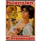 "Original Vintage German Advertising Poster for ""Küenzlen's Citronsaft"""