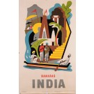 Original Vintage Travel Poster to advertise India