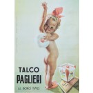 """Vintage Italian Poster for """"Talco Paglieri"""" by Boccasile"""