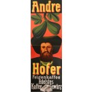 "Original Vintage German Poster for "" COFFEE NATIONAL Andre Hofer"""