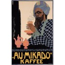 Original Vintage German Poster for Au Mikado Kaffee by Fischinger