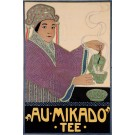 Original Vintage German Poster for Au Mikado Tee by Fischinger