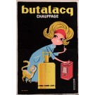 Original Vintage French Poster for Butalacq Chauffage