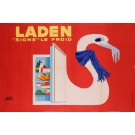 Original Vintage French Advertising Poster For  Laden Refrigerator by Herve Morvan