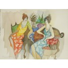 """Original Watercolor Painting """"Friendship"""" SIGNED by Tarkay including COA"""
