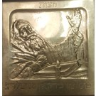 """Chatzot"" A Bezalel Silver-Plated Plaque by Boris Schatz. Signed ""Yerushalem"""