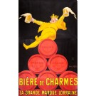 "Original Vintage French Poster  3 parts for ""Biere de Charmes"" by Jean D' Ylen"