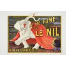 "Original French Cardboard Poster ""Le Nil"" Cigarette Paper by L. CAPPIELLO 1920's"