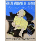 "Orginal Vintage French Children Poster ""Semaine Nationale de l'Enfance"""