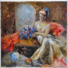 "Original Acrylc on Canvas ""The Bride"" by Francis"